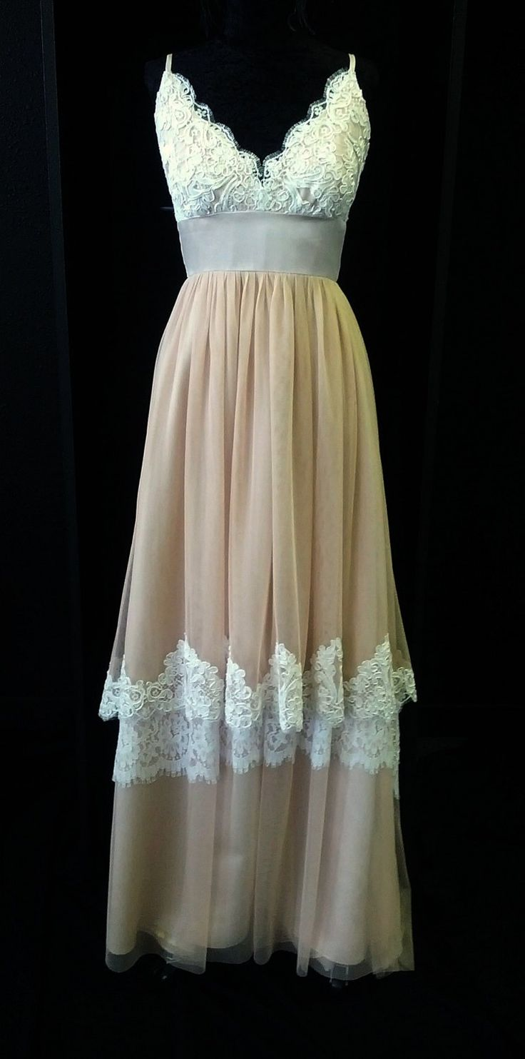 Blush pink lace boho wedding dress for Wedding dresses colors other than white