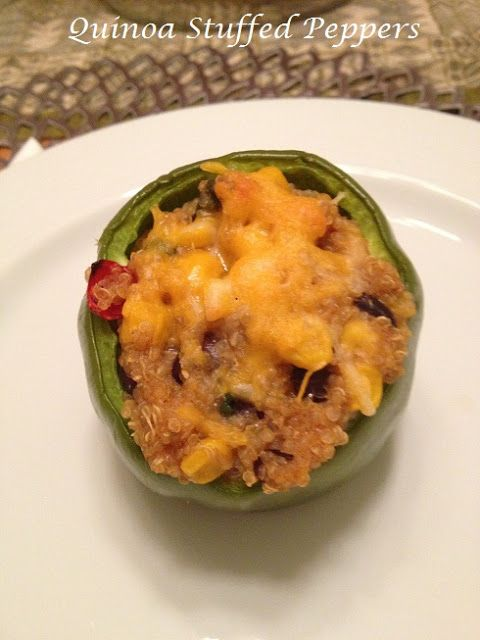 Tea Time with Tess: Quinoa Stuffed Peppers