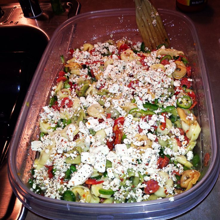 Italian Pasta Salad! Tortellini noodles, pepperoni minis, Italian ...