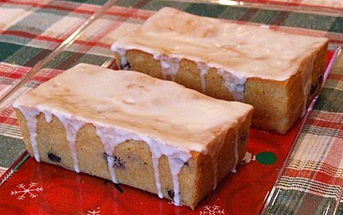 Cranberry Orange Bread with Grand Marnier Glaze