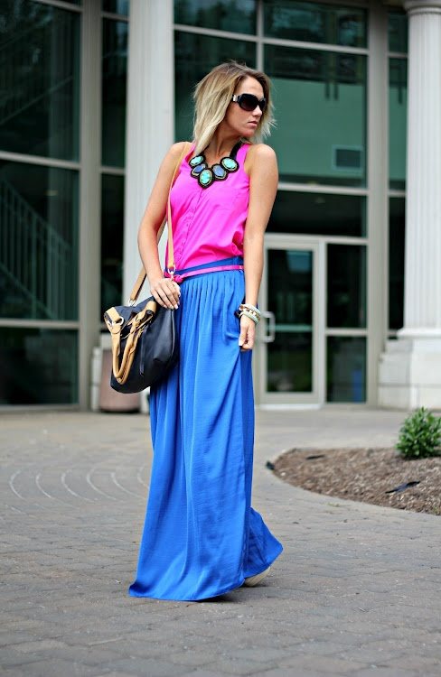 Pop! of Style: Neon Legacy Ethelyn Blue necklace, email jessica@cayetanolegacy.com for 20% off!