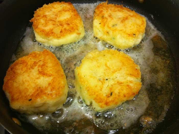 ... always leftover mashed potatoes to make mashed potato cakes! #recipe