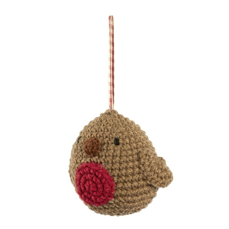 Knitted Robin Pattern For Christmas : Christmas Knitted Robin Decoration Lets get knitting Pinterest