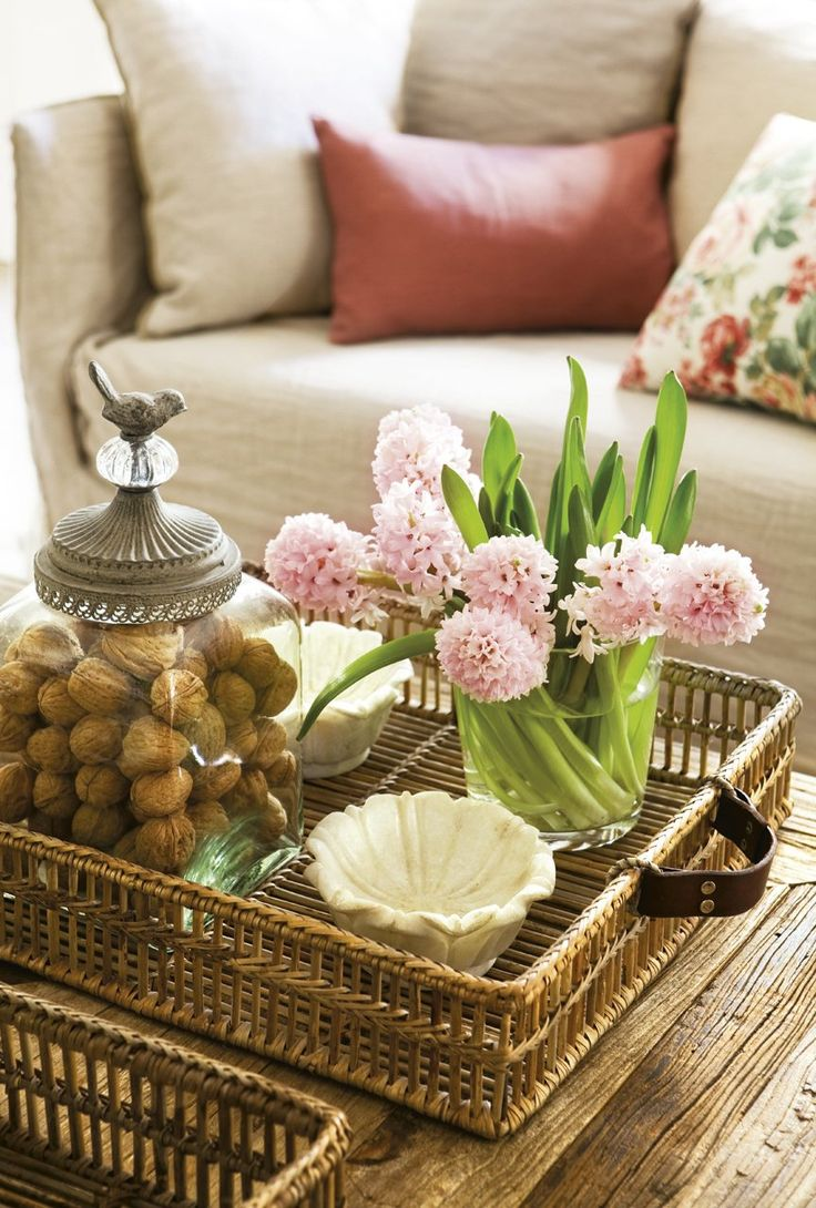 A basket to collect accessories.