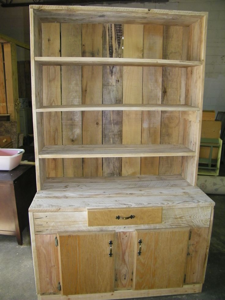 Pin by ruth young on store display collector 39 s corner - Cupboards made from pallets ...