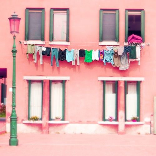 Italy Venice Murano home decor gift adorable architecture daily life coral pink