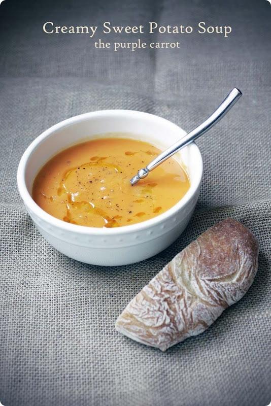 creamy sweet potato soup | Food Food Food | Pinterest