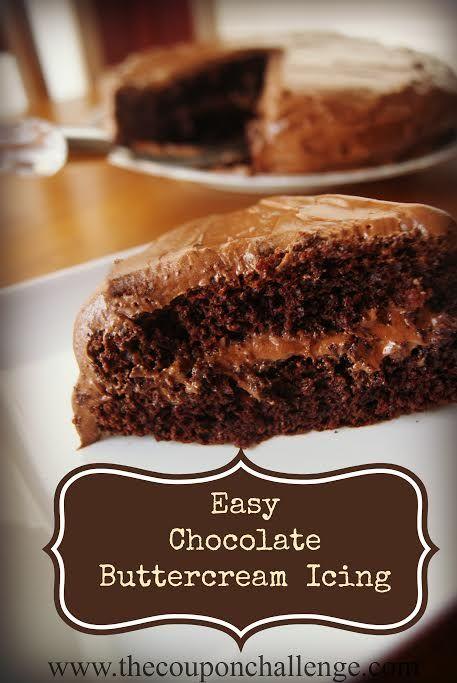Easy Chocolate Buttercream Icing Recipe