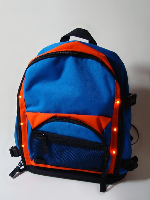 Luce is an illuminated backpack that provides safety for ...