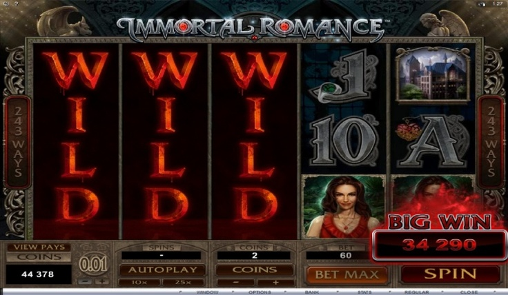 immortal romance slot rtp