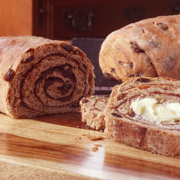 Cinnamon-Swirl Raisin Bread | Breads, Rolls & Crackers | Pinterest