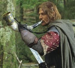 Boromir blows the Horn of Gondor