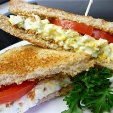 Creamy Egg Salad Sandwiches | Appetizers | Pinterest