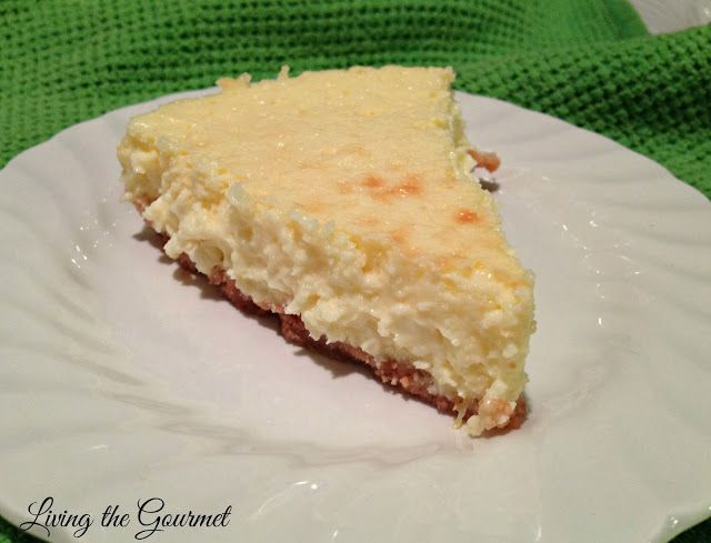 Living the Gourmet: Eggnog Cheesecake | Two-Cup Tuesday | Pinterest