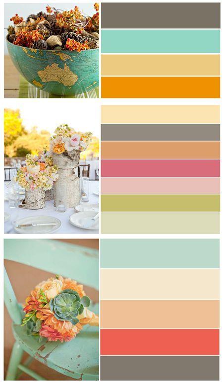Сочетание цветов для открыток