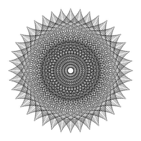 Line Design Art Math : Math art and spirographic fractal mandala
