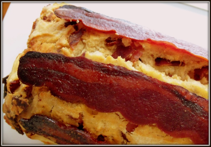 Maple Candied Bacon Beer Bread | All things BACON!! | Pinterest