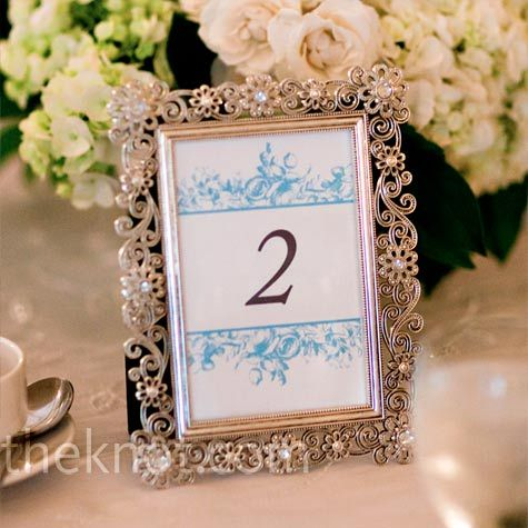 Table Numbers In Photo Frames