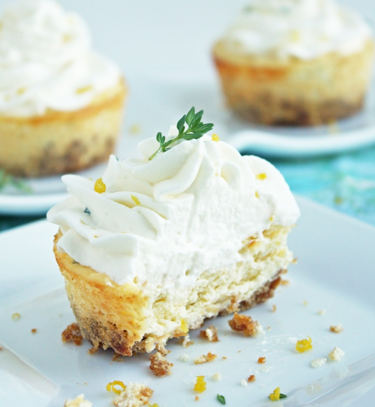 ...: Lemon, Thyme & Chevre Cheesecakes, instead of the goat cheese ...