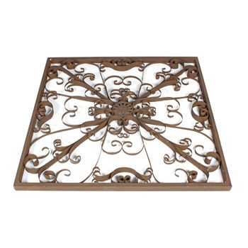 Wrought Iron Wall Decor ~ Large Scroll Outdoor | Landscaping / Garden ...