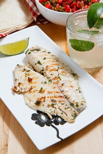 Mojito Grilled Fish Tacos with Strawberry Salsa: Recipe Courtesy of ...