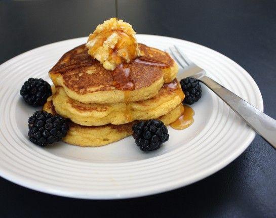 cornmeal pancakes- uses a little masa harina