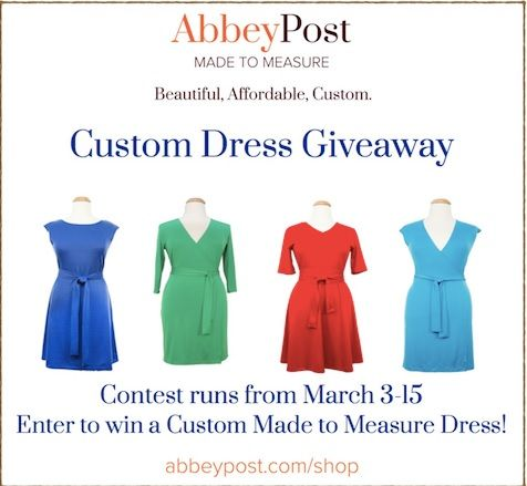 AbbeyPost Made to Measure Custom Dress Giveaway!#CustomDress