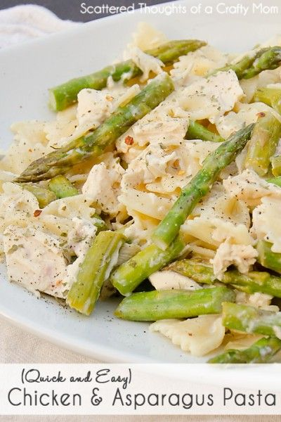 Creamy Chicken and Asparagus Pasta | Recipe