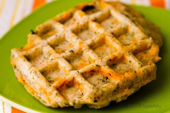 Savory Cheezy Herbed Waffles. | KU Mrs. E Dining Event | Pinterest