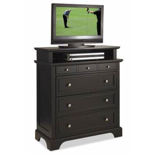 bedford tv media chest black finish home styles furniture