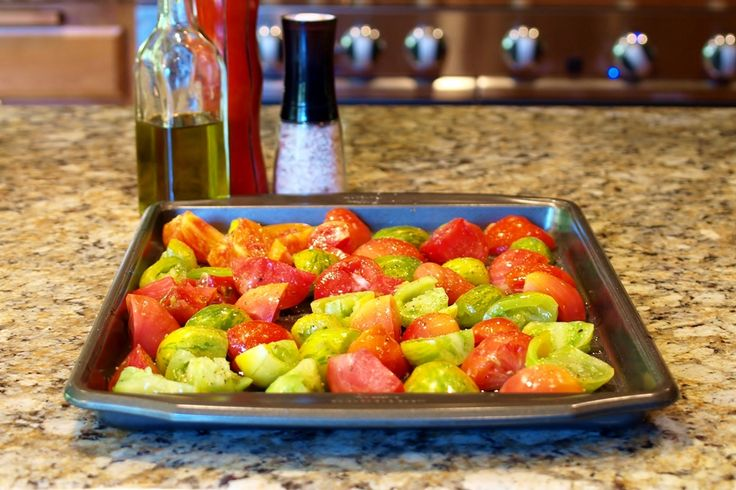 roasted heirloom tomatoes | Farm Share Recipes | Pinterest