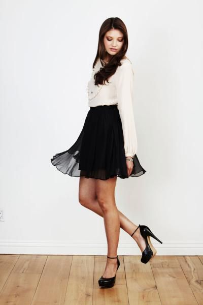 WANT WANT WANT! silk bouse and chiffon skirt by paper crown