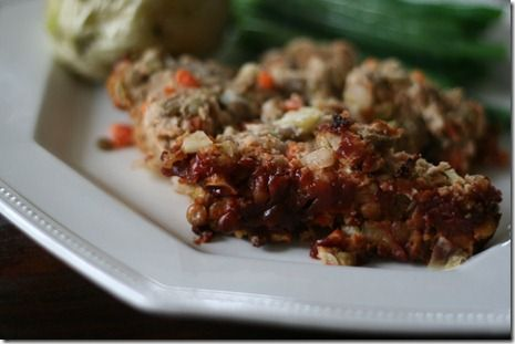 turkey lentil meatloaf...but make with grass-fed ground beef for a ...