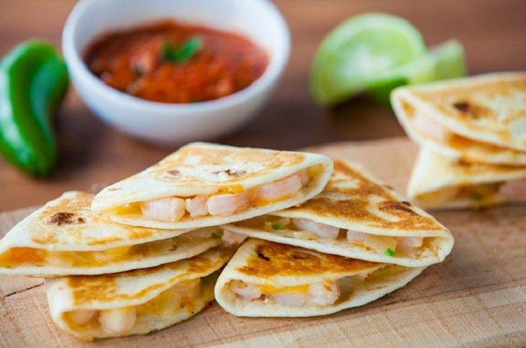 Quesadillas De Camarones Recipe — Dishmaps