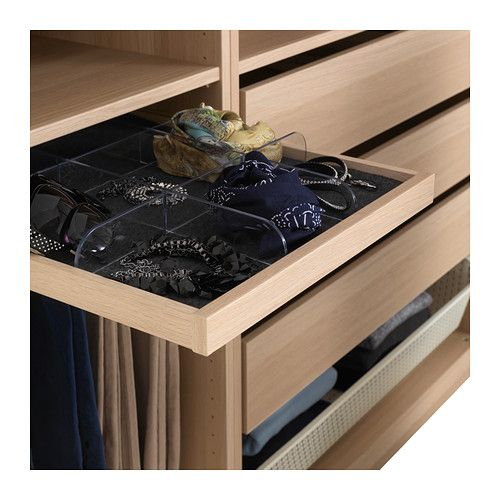 Komplement divider for pull out tray transparent - Dressing ikea komplement ...
