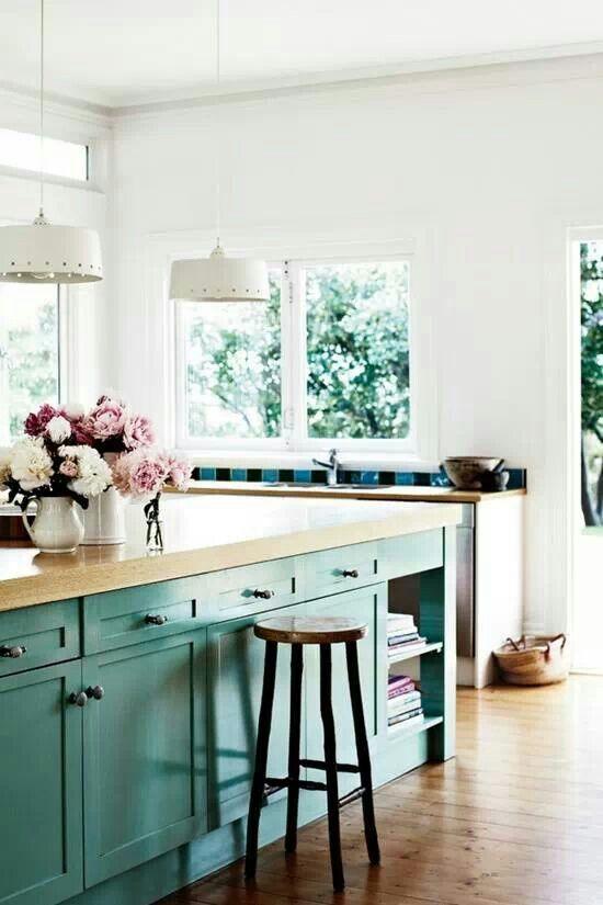 Turquoise kitchen!