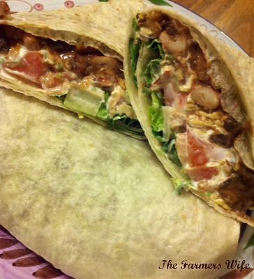 Spicy Bean Burritos- Really good taste but quite hot from the chipotle ...