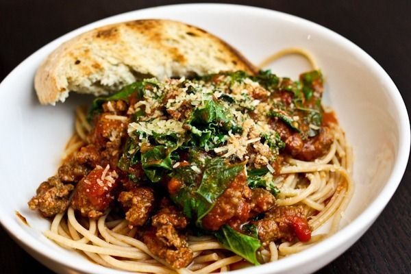 Spaghetti sauce with kale, i started with a jar of sauce, then i ...