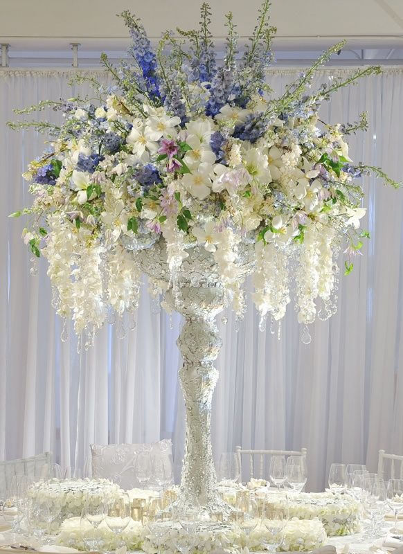 White elegant flower arrangements centerpiece pinterest
