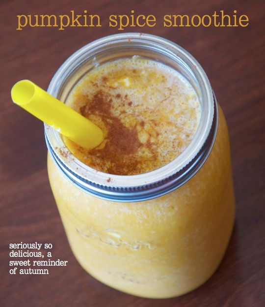 Pumpkin spice smoothie | Recipes | Pinterest