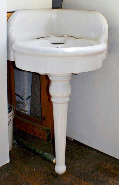 Vintage corner sink for powder room My Castle Pinterest