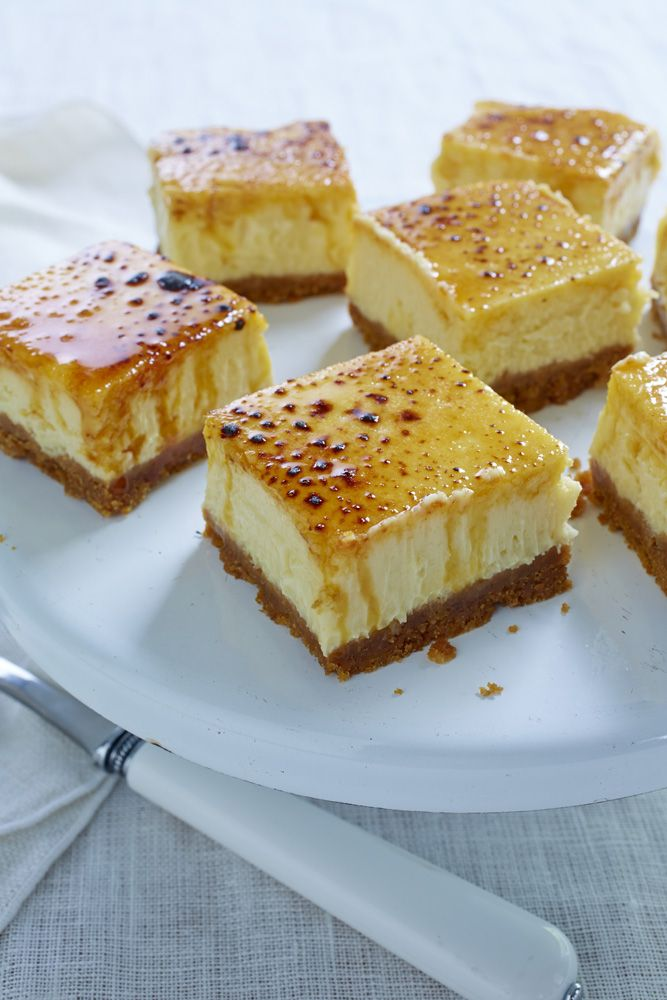 Creme Brulee Cheese Cake Squares Ummmmmm just say no to crack? Never ...