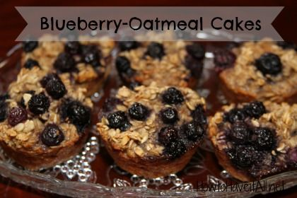 Blueberry Oatmeal Cakes make for an easy breakfast!