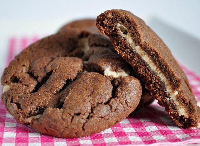 Chocolate Fudge Peanut Butter Cookie Stuffed Cookies ...