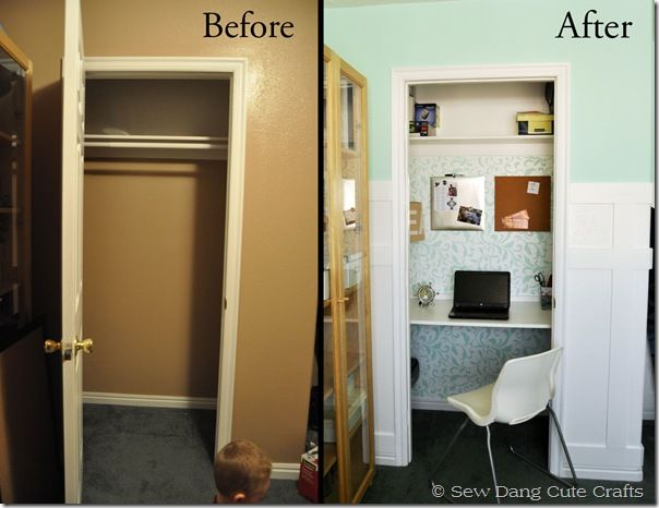 Small Spaces Converted Closets Into Home Office Nooks