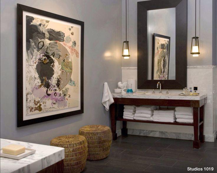 Custom framed mirror for a bathroom : Custom Mirrors : Pinterest