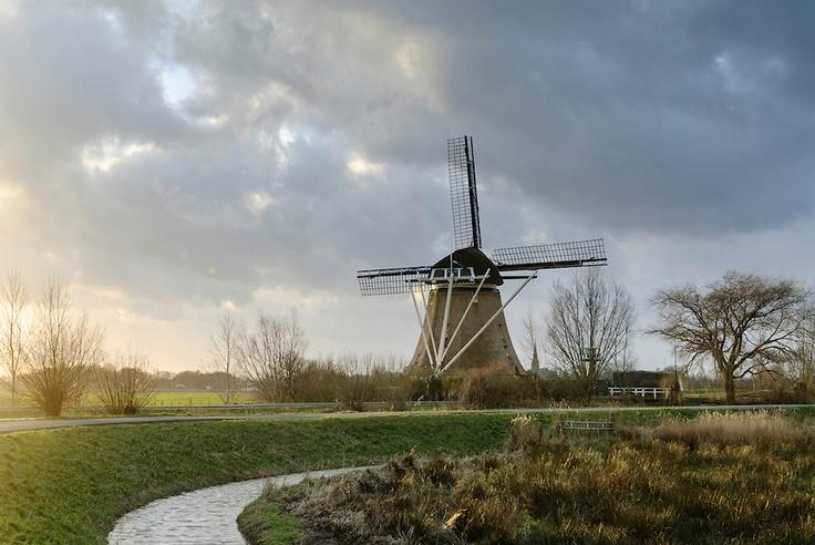 Abcoude Netherlands  city pictures gallery : Langs het Gein: Abcoude, Utrecht, Netherlands. Windmill Delphine