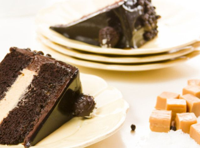 Chocolate Salted Caramel Layer Cake | Sweets | Pinterest