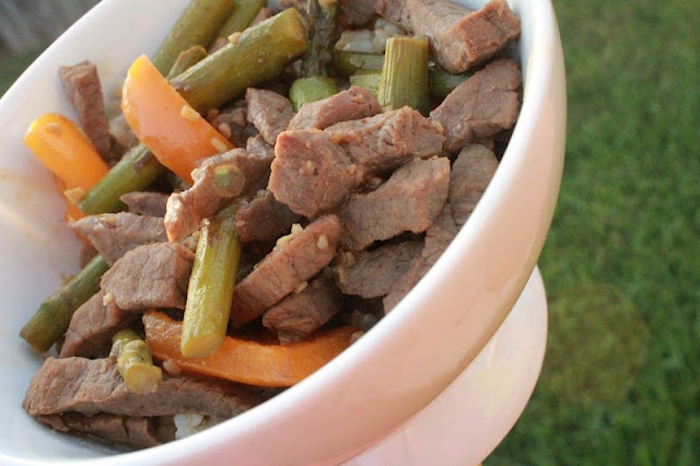 Beef & Asparagus Stir Fry | No Onions | Pinterest