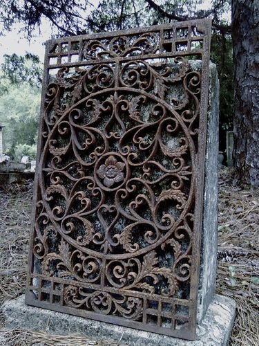 French iron garden palace fence architectural cast wrought